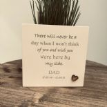 Personalised Flower / Plant Pot In Memory Loved One DAD Memorial MUM OR ANY NAME - 254323510781